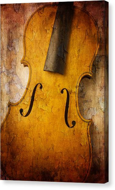 Fiddling Canvas Print - Textured Violin by Garry Gay