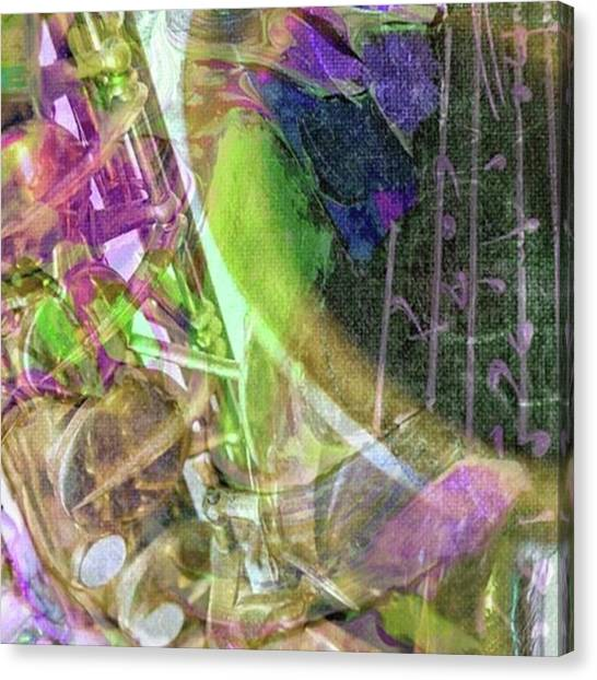 Saxophones Canvas Print - Tgif!🎷🎶🎼abstract Sax By Pamela by Pamela Williams