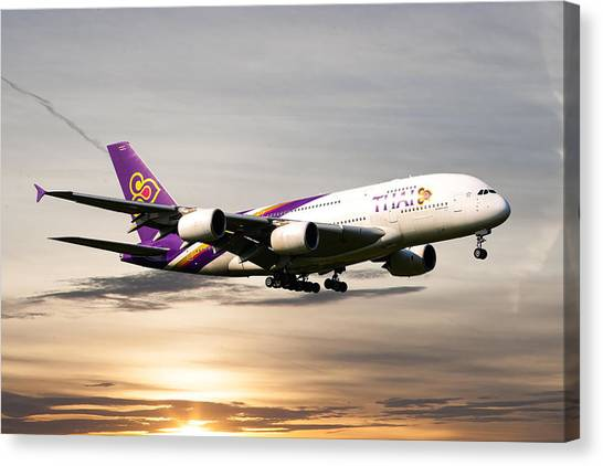 Airlines Canvas Print - Thai Airlines by Smart Aviation