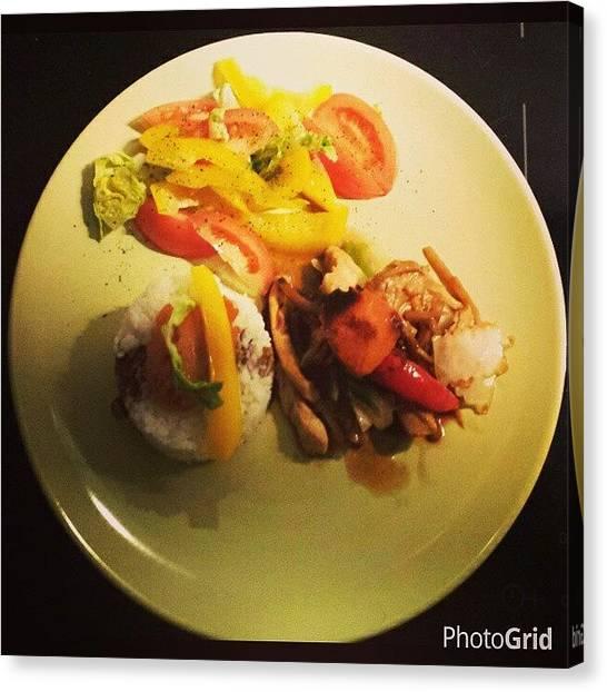 Yummy Canvas Print - #thaimat #wook #kyckling #photooftheday by Annelie Sandgren