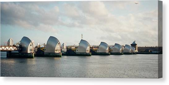 Thames Barrier Canvas Print