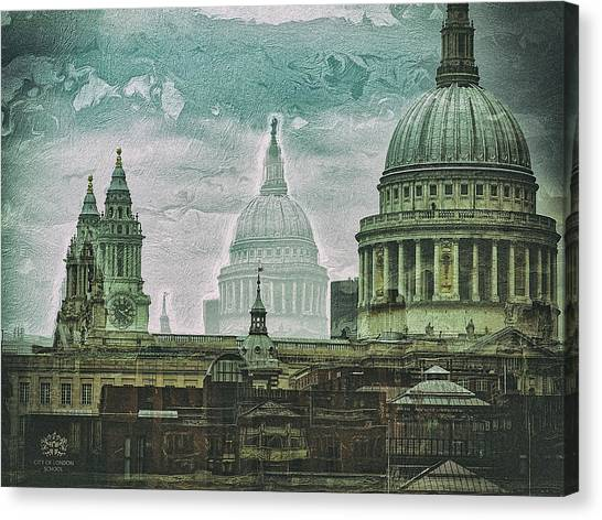 Thamesscape 2 -  Ghosts Of London Canvas Print