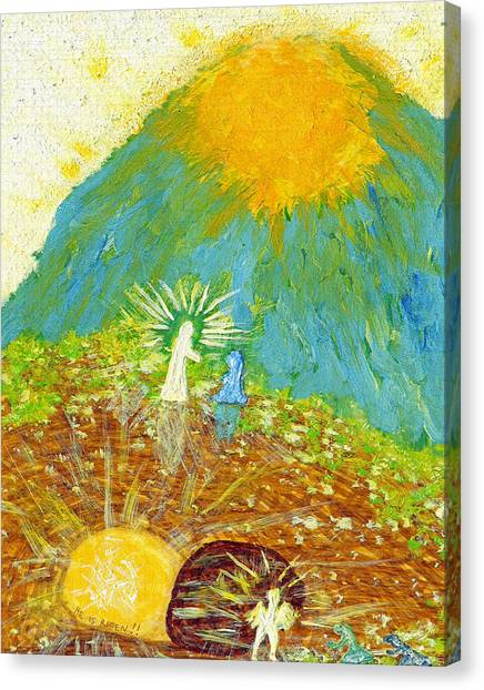 Buried Canvas Print - Thank  God  For  Easter  Sunday by Carl Deaville