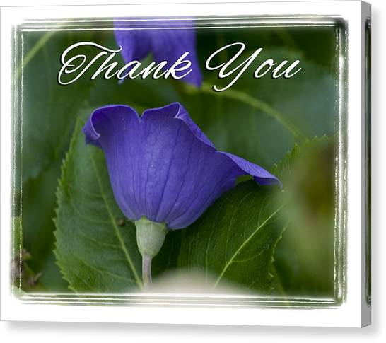 Thank You Balloon Canvas Print