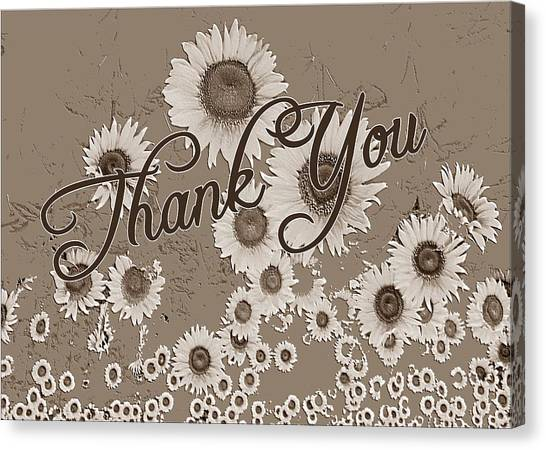 Thank You Card Daisies Canvas Print