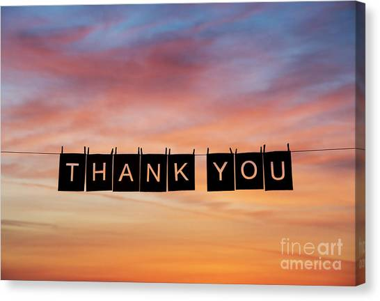 You Canvas Print - Thank You by Tim Gainey