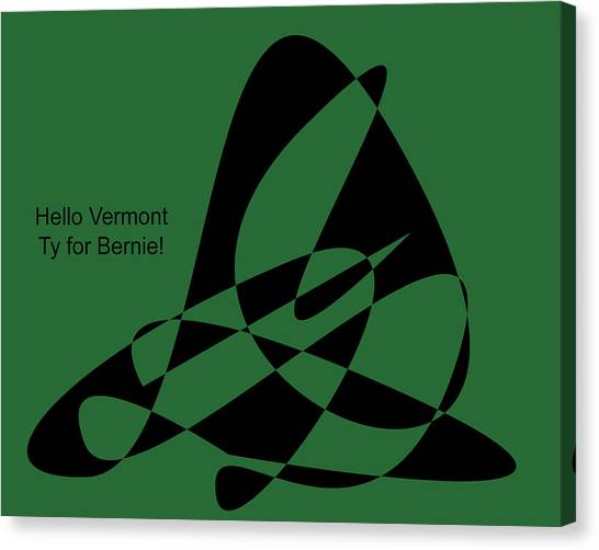 Bernie Sanders Canvas Print - Thank You Vermont by David Bridburg