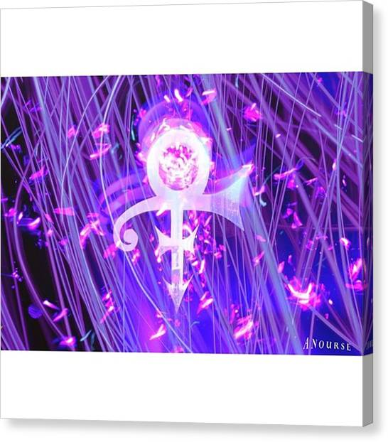 Prince Canvas Print - Thanks Prince Rip #ripprince #prince by Andrew Nourse
