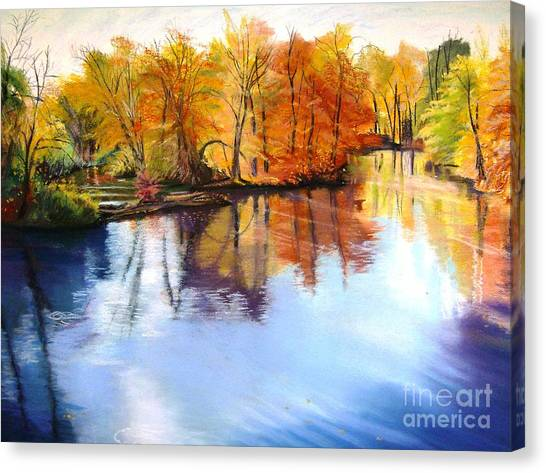 Thanksgiving Day II     Reflections On Blue Canvas Print by Lucinda  Hansen