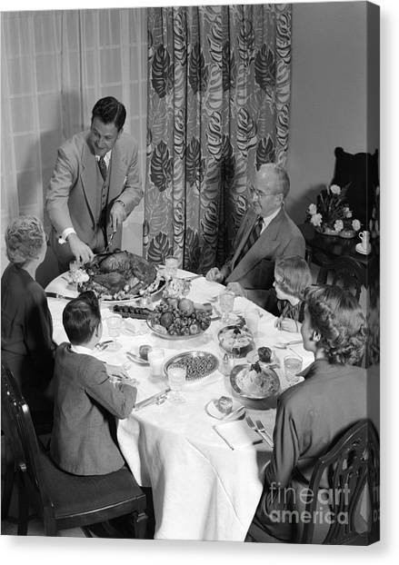 Cranberry Sauce Canvas Print - Thanksgiving Dinner, C.1950s by H. Armstrong Roberts/ClassicStock