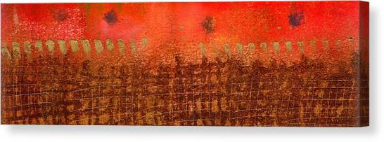 That Long Brown Fence Dividing You And Me Canvas Print