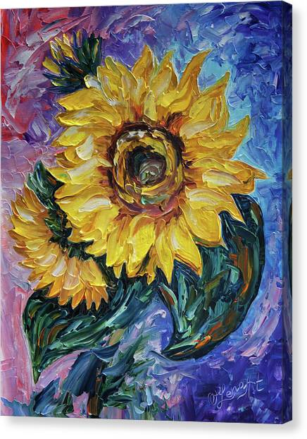That Sunflower From The Sunflower State Canvas Print
