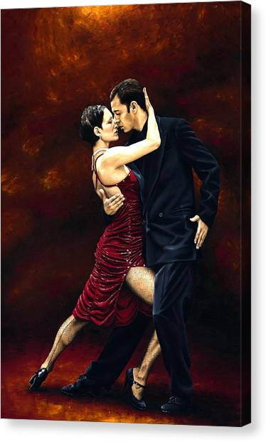 Couple Canvas Print - That Tango Moment by Richard Young