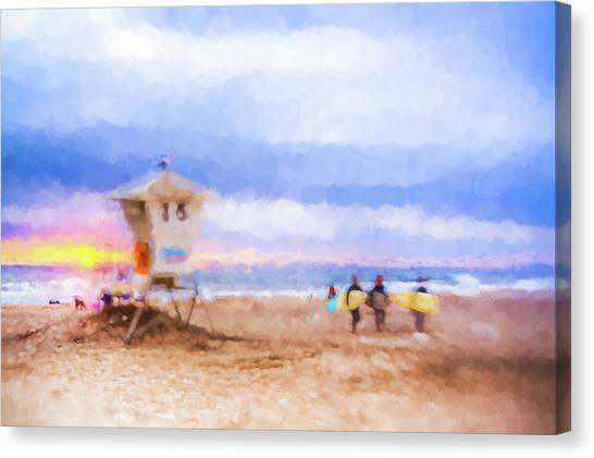 That Was Amazing Watercolor Canvas Print