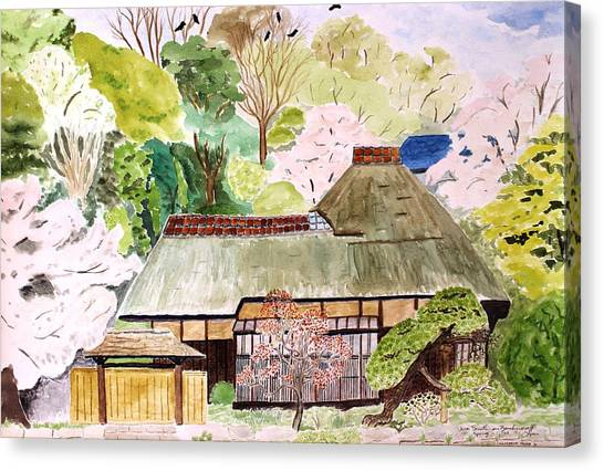 Thatched Japanese House Canvas Print