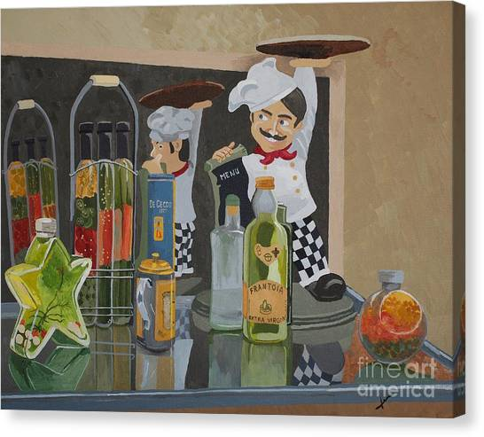 That's Amore II - Like A Big Pizza Pie Canvas Print by Jennifer  Donald