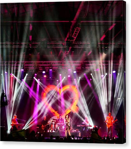 Gears Canvas Print - That's #rita In #concert by Matt Sweetwood