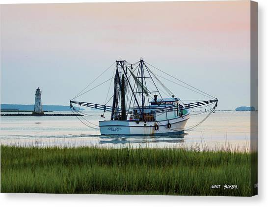 That's Where The Shrimp Are My Boy Canvas Print