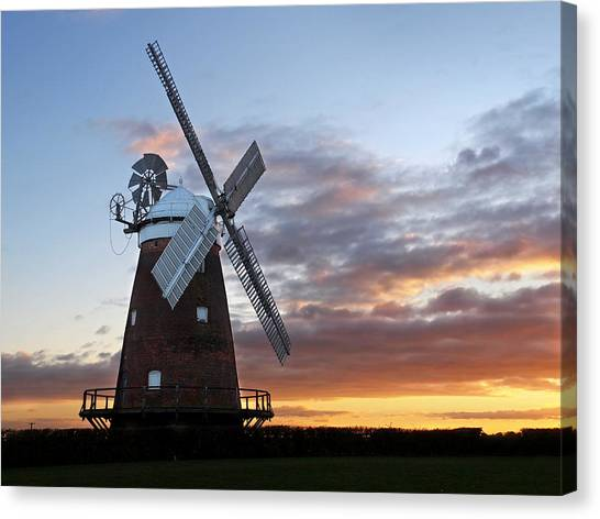 Prairie Sunsets Canvas Print - Thaxted Windmill At Sunset by Gill Billington