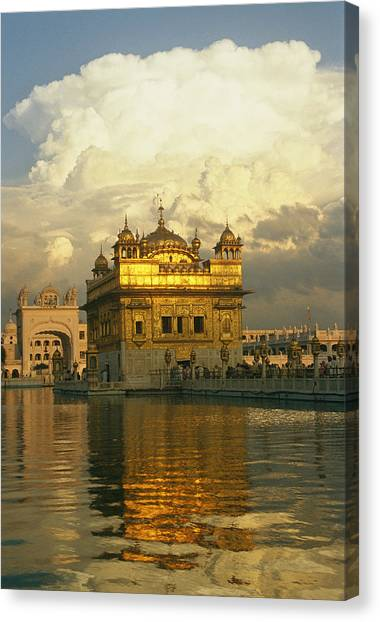 Sikh Art Canvas Print - The 16-th Century Golden Temple by Martin Gray