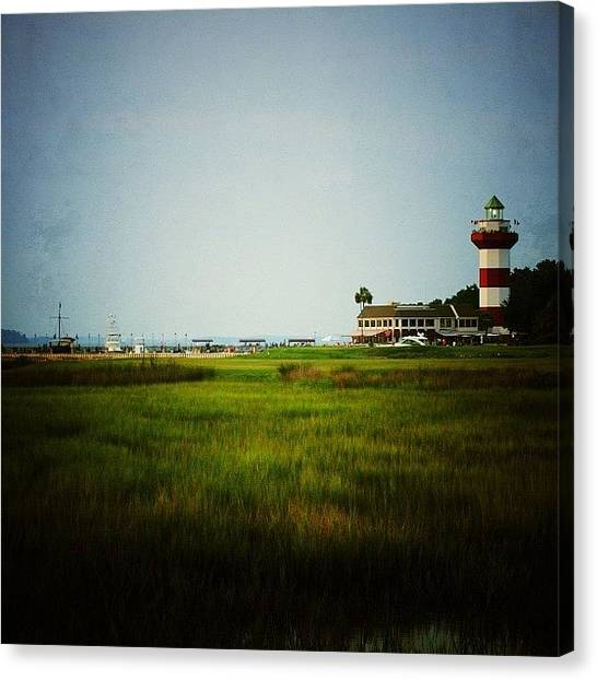 Golf Canvas Print - The 18th Hole At Harbour Town by Tony Delsignore