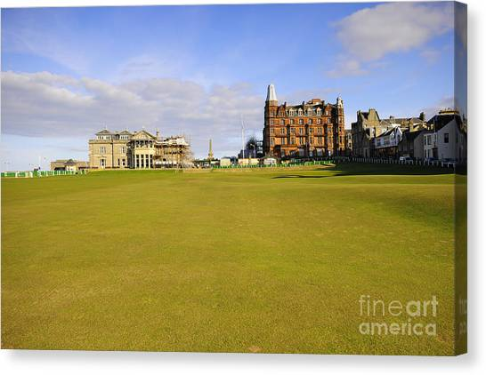 Golf Course Canvas Print - The 18th by Smart Aviation