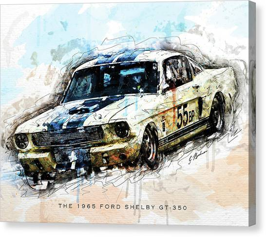 Daytona 500 Canvas Print - The 1965 Ford Shelby Gt 350 II by Gary Bodnar