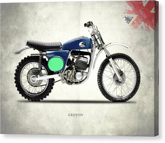 Motocross Canvas Print - The 1969 Griffon by Mark Rogan