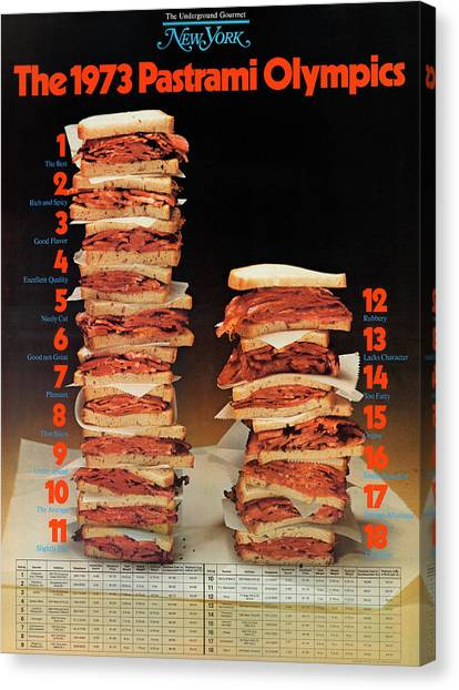 The 1973 Pastrami Olympics Canvas Print