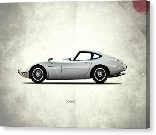 Toyota Canvas Print - The 2000gt by Mark Rogan