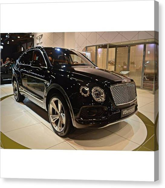 Offroading Canvas Print - The 4x4 Bentley Bentayga #bentley by Sportscars OfBelgium