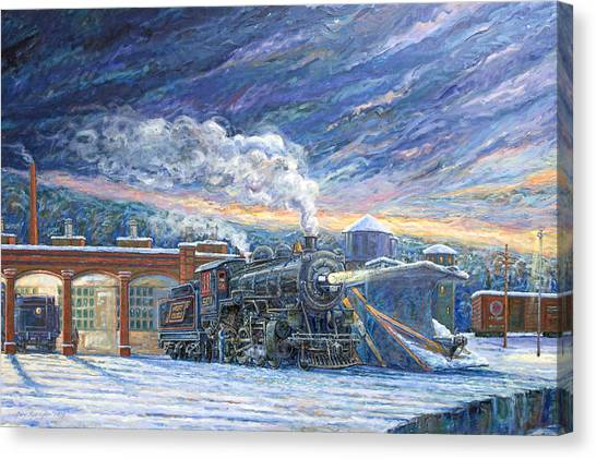 The 501 In Winter Canvas Print by Gary Symington