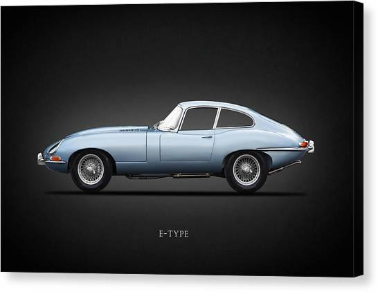 Coupe Canvas Print - The 65 E-type Coupe by Mark Rogan