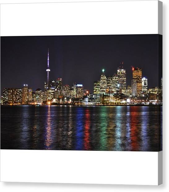 Toronto Skyline Canvas Print - The  6ix // This Is Probably The Best by Kyle Haye
