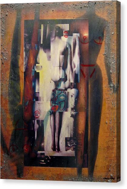 the 7 contemporary sins - Vanity Canvas Print