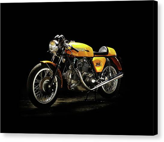 Ducati Canvas Print - The 750 Sport by Mark Rogan