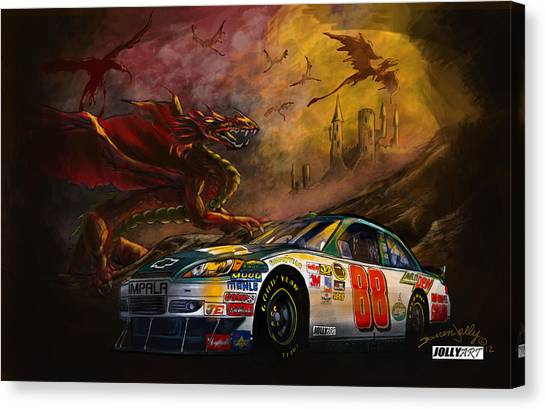 Hendrick Motorsports Canvas Print - The 88 by Darren Jolly