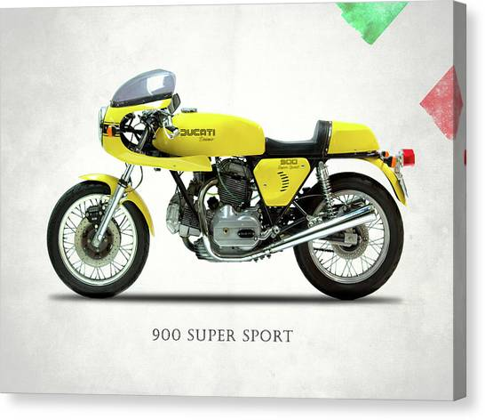Ducati Canvas Print - The 900 Super Sport 1977 by Mark Rogan