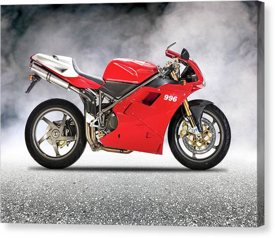 Ducati Canvas Print - The 996 Sps by Mark Rogan