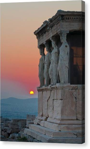 Star Wars Canvas Print - The Acropolis Of Athens by Andy Bucaille