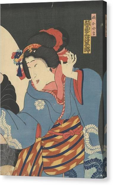 Oyama Canvas Print - The Actor Bando Mitsugoro by MotionAge Designs