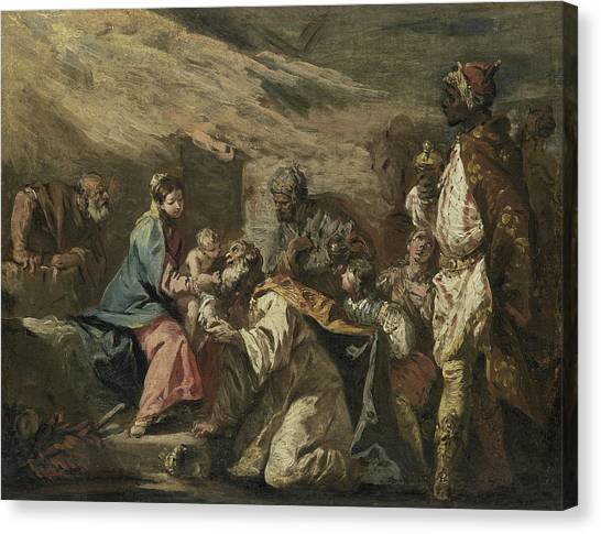 Rococo Art Canvas Print - The Adoration Of The Magi by Gaspare Diziani