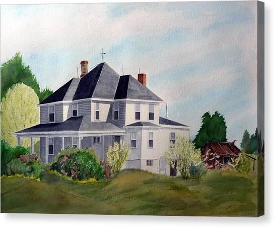 The Adrian Shuford House - Spring 2000 Canvas Print by Joel Deutsch