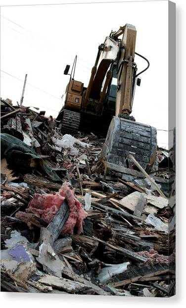 Backhoes Canvas Print - The Aftermath by Kreddible Trout
