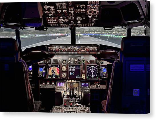 The Airline Pilot Office Canvas Print by JC Findley