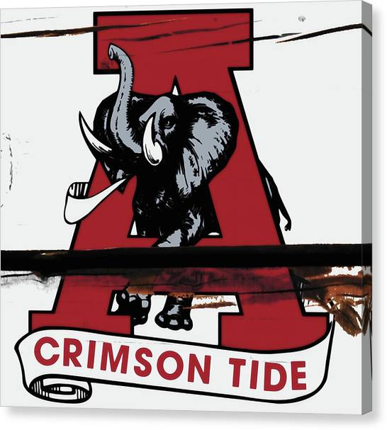 The University Of Alabama Canvas Print - The Alabama Crimson Tide W7             by Brian Reaves