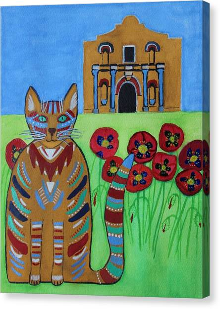 the Alamo Cat Canvas Print