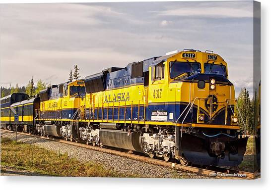 The Alaska Railroad Canvas Print