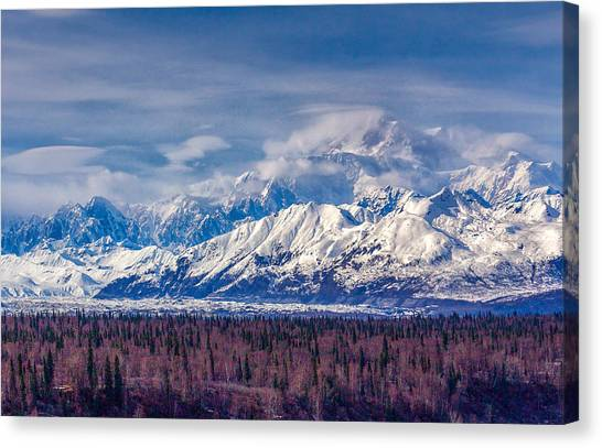 The Alaska Range At Mount Mckinley Alaska Canvas Print