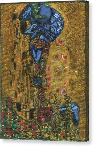 The Alien Kiss By Blastoff Klimt Canvas Print